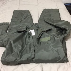 Jackets & Blazers - Bomber flight coveralls army colored brand new
